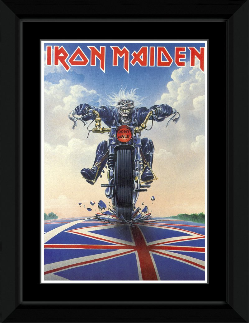 Amazon.com: Stick It On Your Wall Iron Maiden - Dont Walk Framed Mini Poster - 14.7x10.2cm: Kitchen & Dining