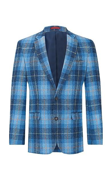 Amazon.com: Harris Tweed - Chaqueta de lana para hombre ...