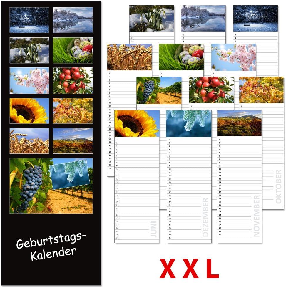 Format 11 x 48 cm. Immerw/ährender Wandkalender Geburtstags-LP Impressions i.w.
