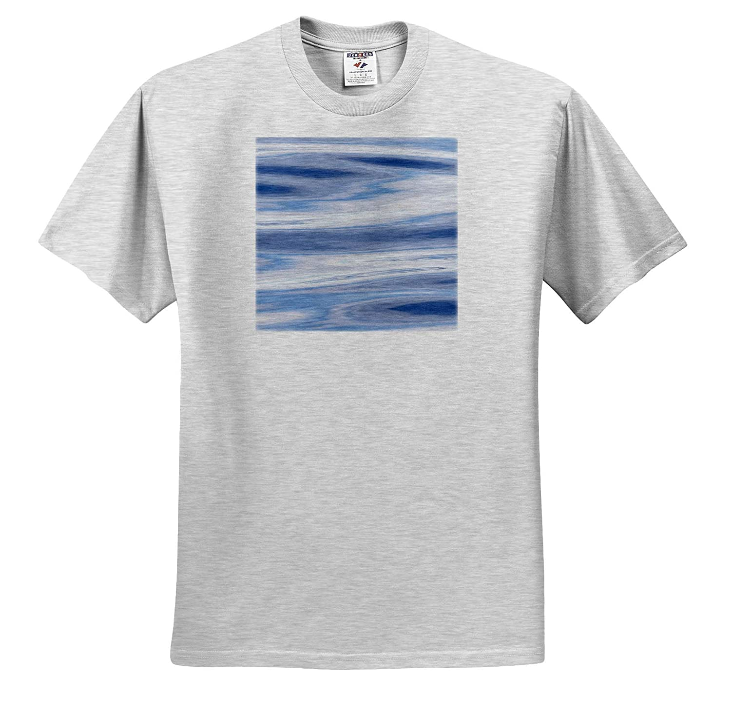 Waves Reflecting Sky in Blue Abstracts Grey and Silver ts/_313896 3dRose Danita Delimont - Adult T-Shirt XL