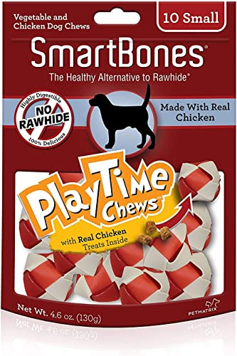 Smartbone Playtime Chews for Dogs with Real Chicken Treats Inside