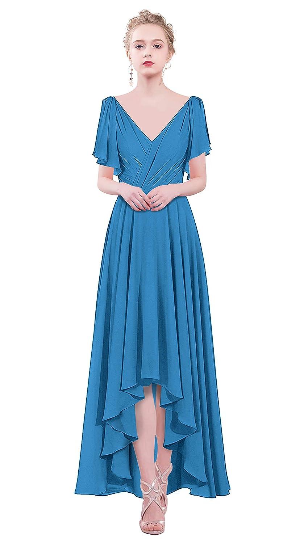 bluee VaniaDress Women V Neck Hilo Prom Dress Evening Gowns V088LF