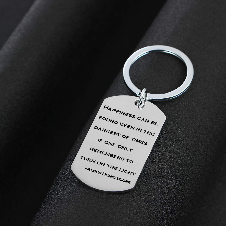 Llavero inspirador con cita de Albus Dumbledore para regalo ...