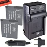 BM Premium 2-Pack of DMW-BCL7 Batteries and Battery Charger for Panasonic Lumix DMC-SZ3, DMC-SZ8, DMC-SZ10, DMC-XS1, DMC-FH10, DMC-F5 Digital Camera