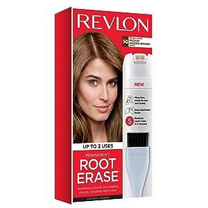 Revlon Root Erase Permanent Hair Color, Root Touchup Hair Dye, 100% Gray Coverage, 5G Medium Golden Brown, 3.2 oz