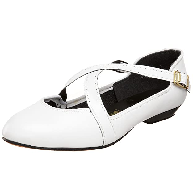 Vintage Dance Shoes- Where to Buy Them Tic-Tac-Toes Womens Shagger Dancing Flat $92.99 AT vintagedancer.com