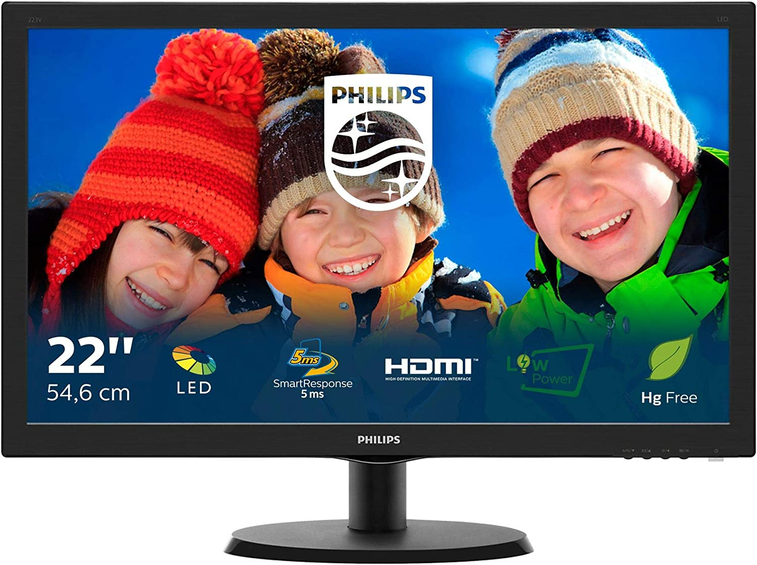 Philips 223V5LHSB/00 - Monitor de 21,5