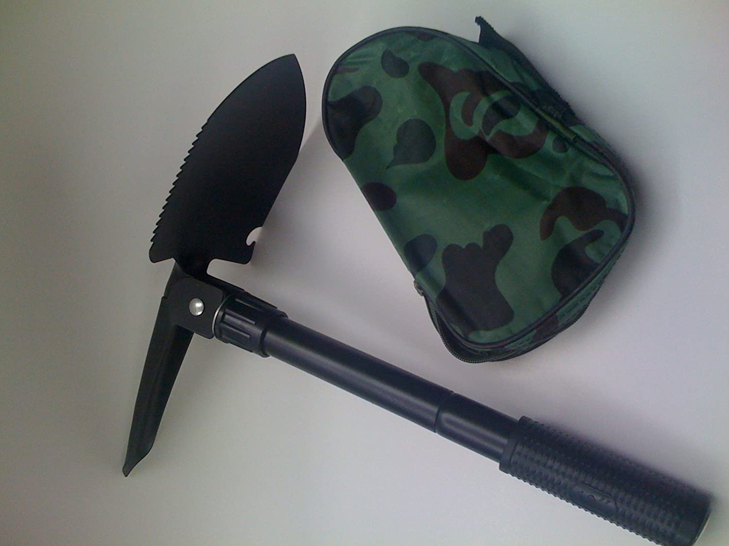New 2x Folding Shovels Three Positions for Shoveling and Diging with Compass Survival Tool Emergency Garden