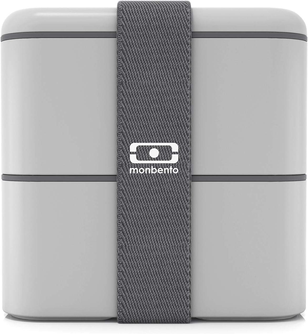 monbento - MB Square Gris Coton Fiambrera Lunch Box - Bento Box ...