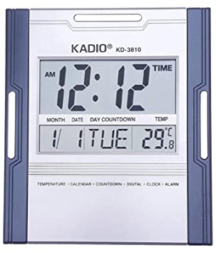 KADIO Reloj Digital de Pared con Pantalla de Temperatura: Amazon.es: Hogar