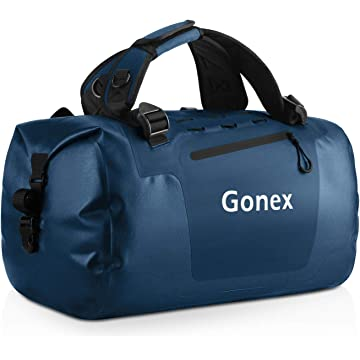 Gonex 45L Waterproof Outdoor Duffel, Durable Travel Dry Duffle Bag for Kayaking, Boating, Rafting, Fishing, Outdoor Adventures
