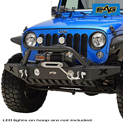 Winch For Jeep >> Amazon Com E Autogrilles Black 07 16 Jeep Wrangler Jk Rock Crawler