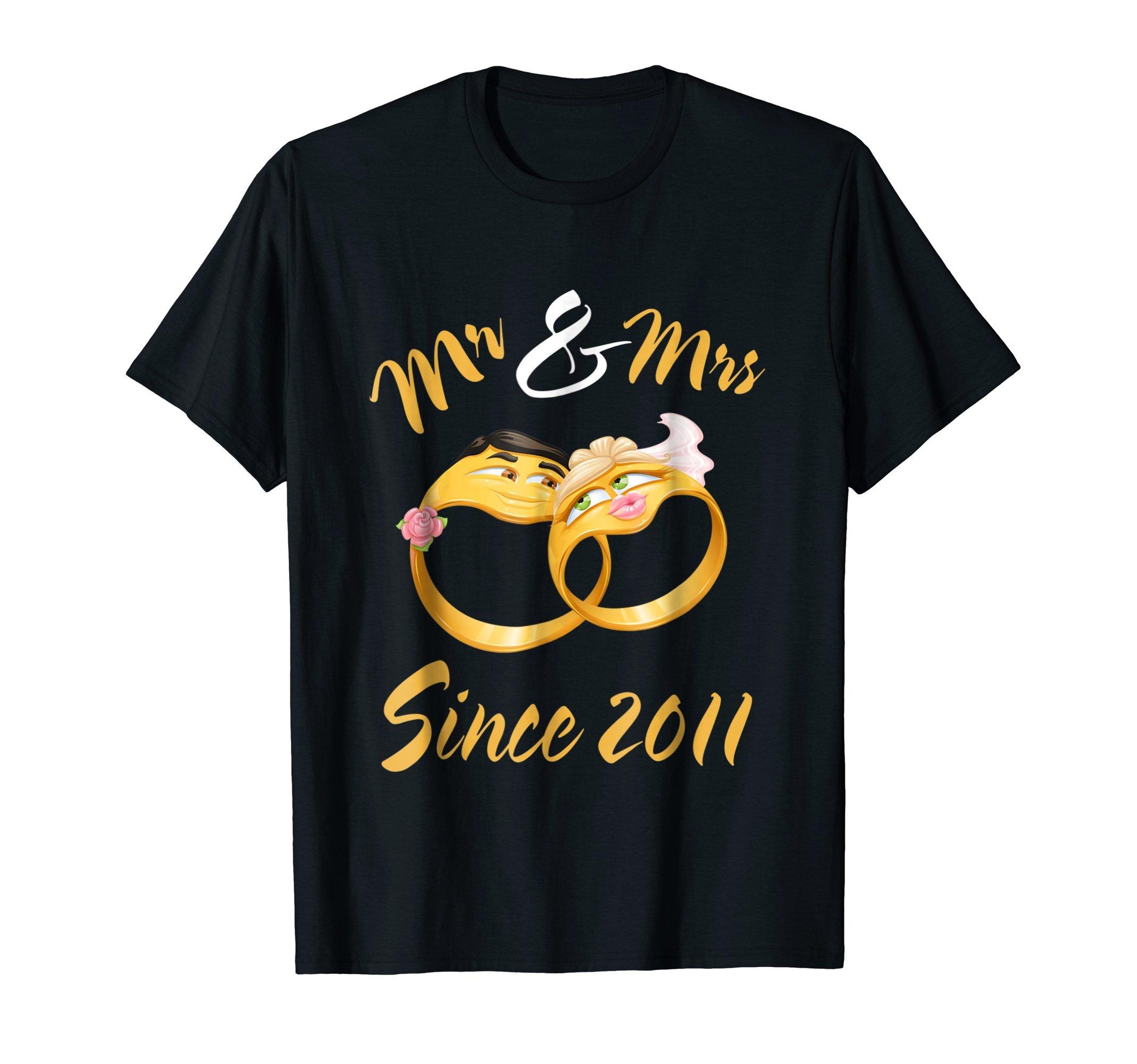 Mr & Mrs Since 2011 T-Shirt Wedding Anniversary Gift Tee