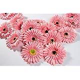 decorazione di nozze a casa artificiale African Daisy testa fiori artificiali decorazione per lavoro fai da te PAC KOF 20 (rosa)