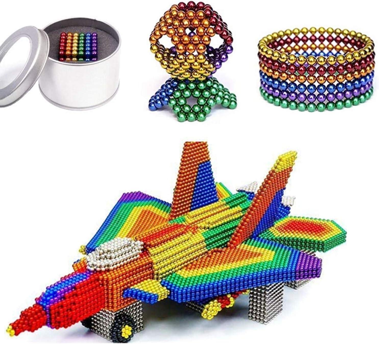 HapeeFun Bolas de Rompecabezas mágico Bola Descompresión Desarrollo Inteligente Juguetes Regalo Ideales para niños y Adultos - 6 Colores-216pcs
