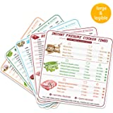 Quick Reference Guide - 5 Pcs Pressure Cooker Cheat Sheet Magnets, Stronger Magnetic Cheat Sheet Food Cooking Time Chart - Cl
