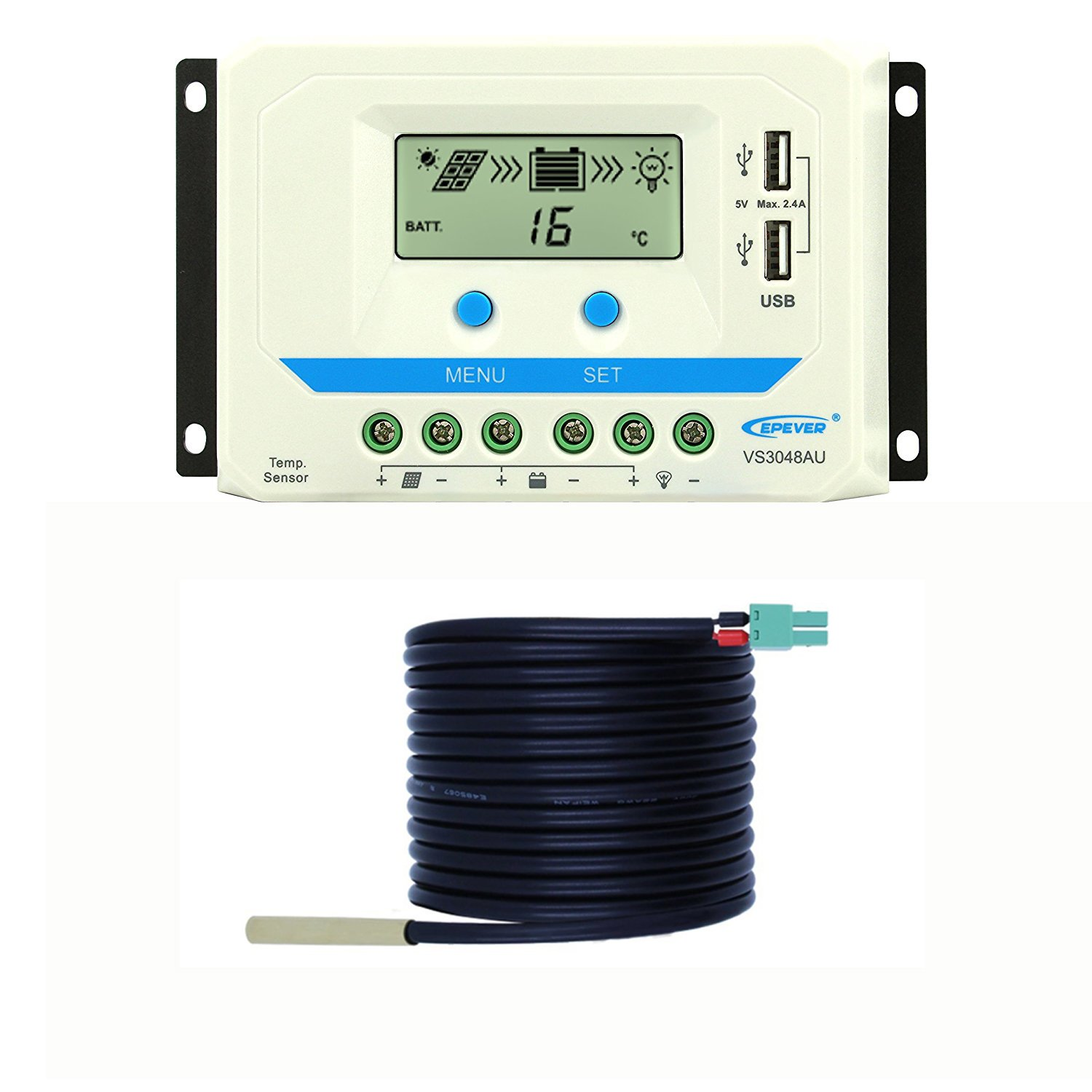 EPEVER 20A MPPT Solar Charge Controller 150V PV Solar Panel Controller Negative Ground