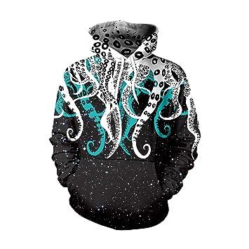 JiaCH Octopus jibias 3D Impreso Dibujos Animados Sudaderas con Capucha Sudaderas con Capucha de Colores para Unisex (Size : XXL): Amazon.es: Hogar