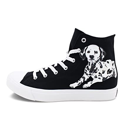 9dbff8231c639 Amazon.com: Wen Fire Design Hand Painted Shoes Dalmatian Spotty Dog ...