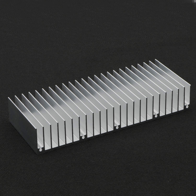 2pcs Set H x 60mm x 25mm W L JIUWU Aluminum Heat Sink Heatsink Module Cooler Fin Heat Radiator Board Cooling for Amplifier Transistor Semiconductor Devices Silver Tone 150mm