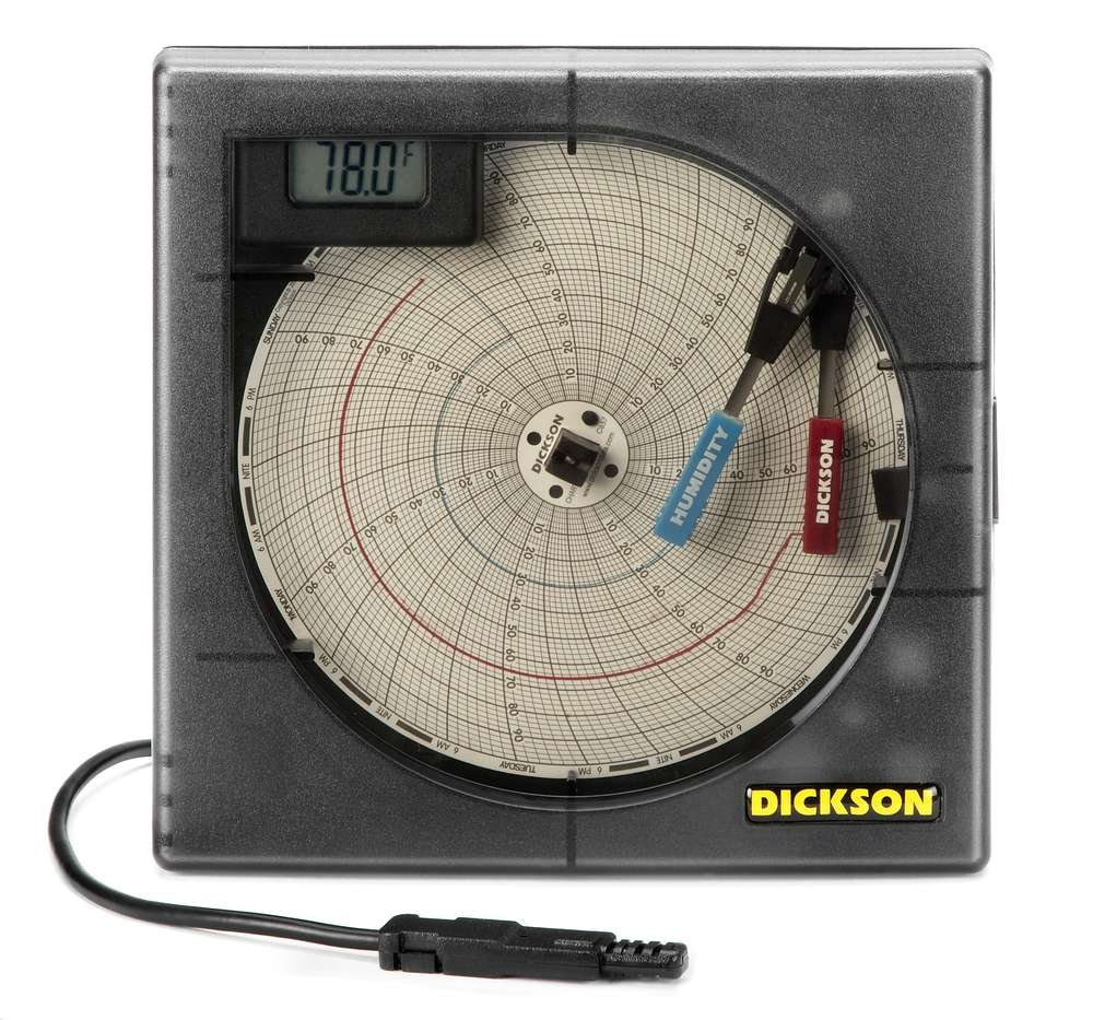 Dickson temperature and humidity chart recorder circular chart