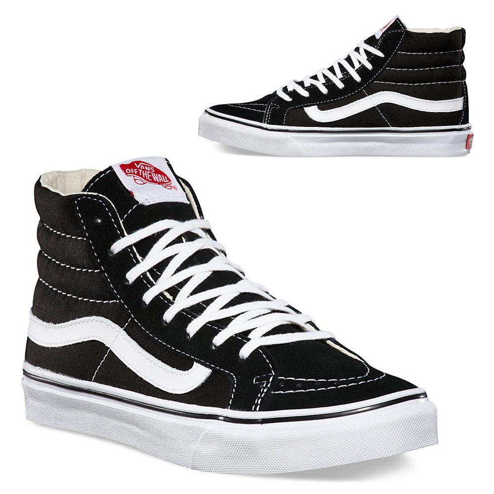 bad256bcaa4ab Vans Unisex Old Skool Skate Shoe (11 B(M) US Women/9.5 D(M) US Men, Sk8-HI  Black/White)