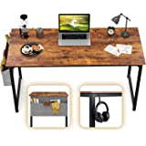 """CubiCubi Computer Desk 47"""" Study Writing Table for Home Office, Industrial Simple Style PC Desk, Black Metal Frame…"""