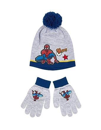 c6d0818e5b733 Bonnet et gants enfant garçon Spider-man Gris/marine de 3 à 9ans ...