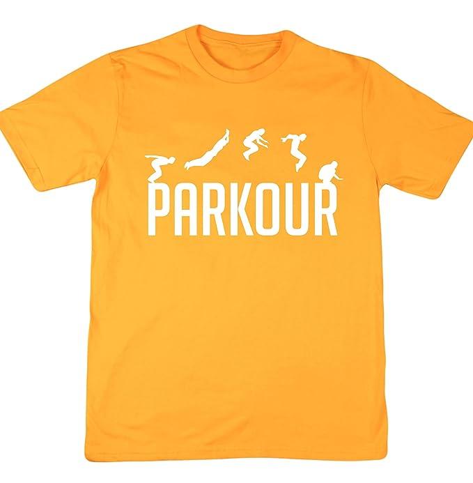 HippoWarehouse Parkour camiseta manga corta unisex: Amazon.es: Ropa y accesorios