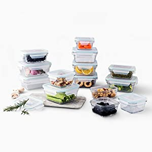 Glasslock Oven and Microwave Safe Glass Food Storage Containers 28 Piece Set