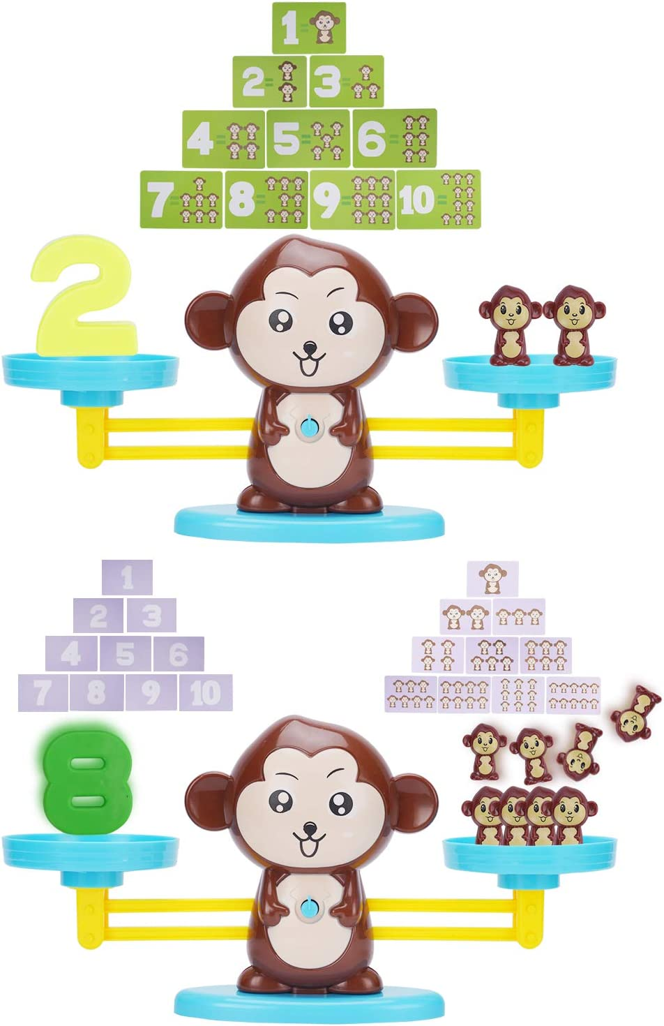 Monkey Balance Cool Math Game for Girls /& Boys Stem Toys for 3 4 5 Year Olds Children/'s Gift /& Kids Toy Preschool Kindergarten Counting Educational Games