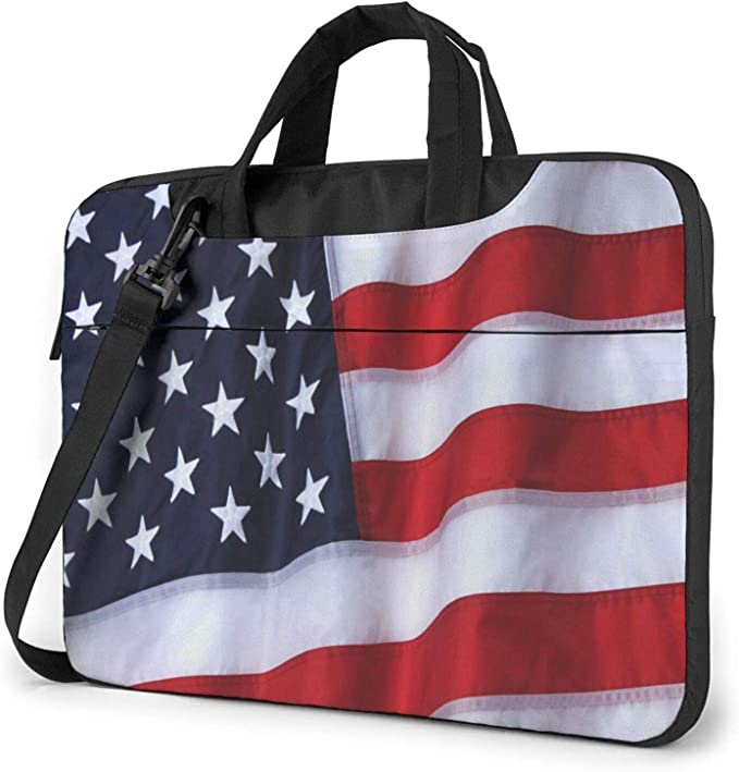Lebanon and Peruvian Flag Fashion Laptop Case Laptop Shoulder Messenger Bag Sleeve for 13 To15.6 Inch