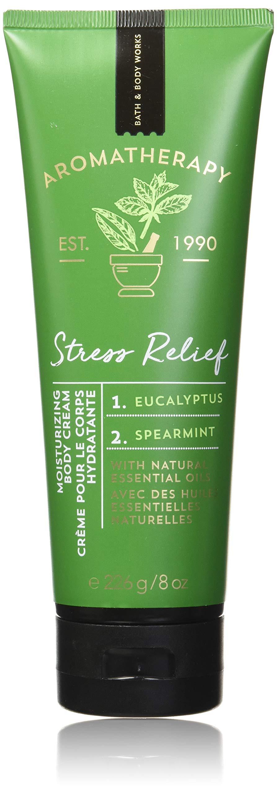 Bath and Body Works Aromatherapy Stress Relief Eucalyptus & Spearmint Body Cream. 8 Oz. by Bath & Body Works