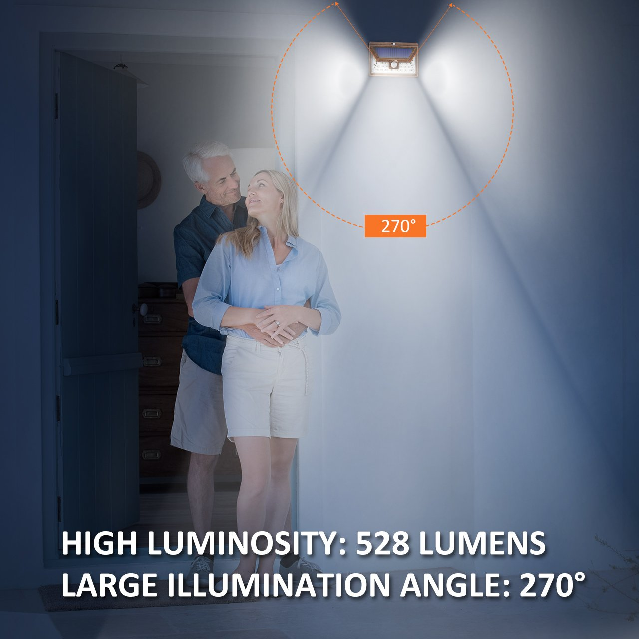 Litom Lampe Solaire Exterieur 24 Led Applique Solaire Puissante