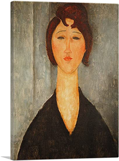 6ab806077dc Image Unavailable. Image not available for. Color  ARTCANVAS Portrait of a Young  Woman 1918 Canvas Art Print by Amedeo Modigliani- ...