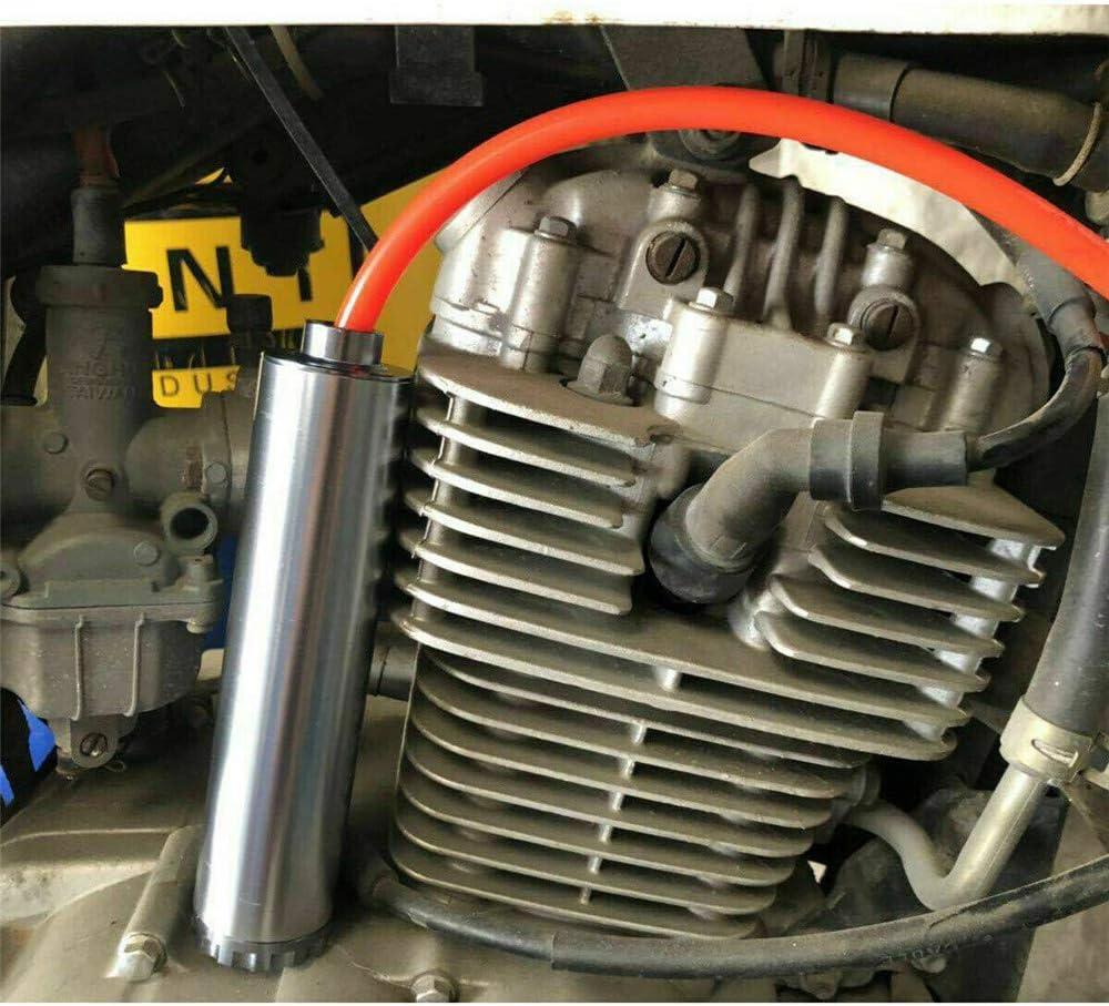 Filtro Solvente per la Trappola del Carburante con Anello a Tenuta Stagna Tubo Flessibile Morbido Monoforo per Accessori Auto in Alluminio di Grado Aeronautico