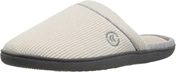ISOTONER Women's Waffle Knit Slip On Clog Slipper for Indoor/Outdoor Comfort and Arch Support