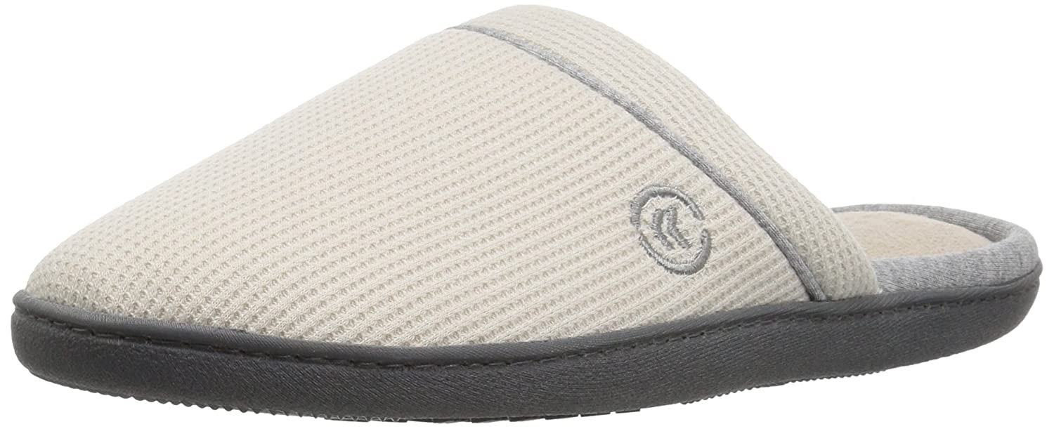 ISOTONER Women's Waffle Knit Slip On Clog Slipper for Indoor Outdoor Comfort and Arch Support