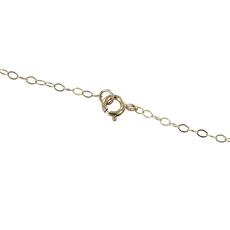 Handmade 18 inch 14K GF Necklace ASHANTI Turquoise Natural Gemstone Pendant