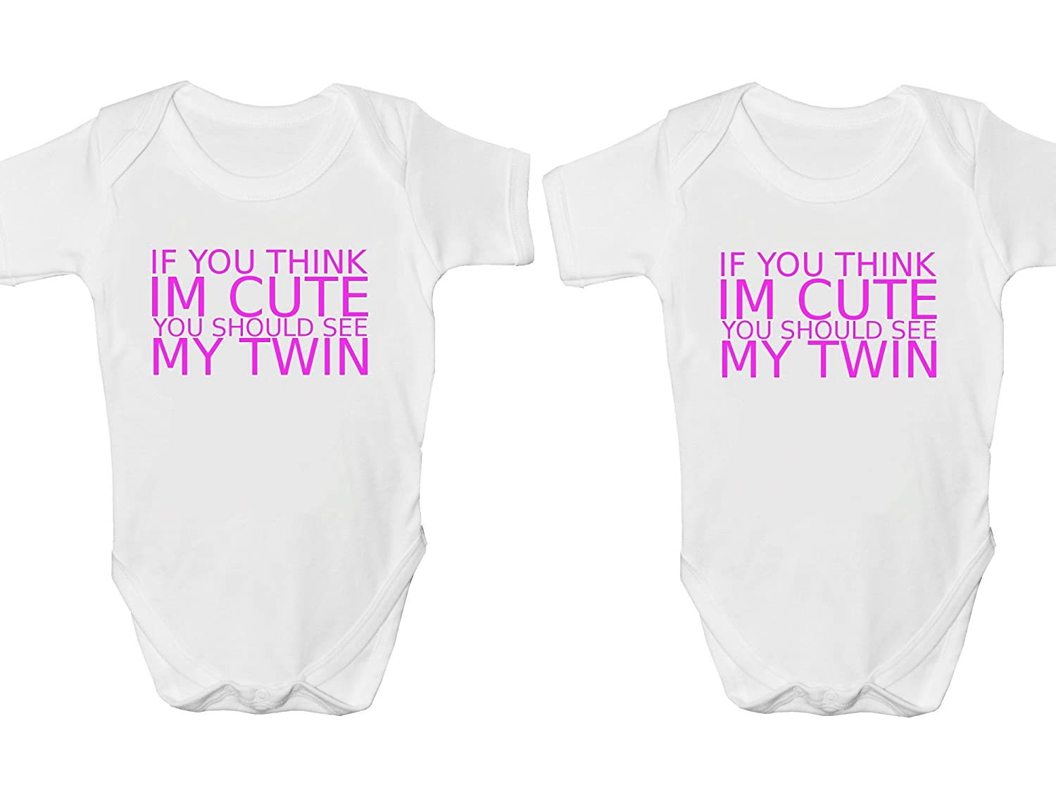 If You Think Im Cute You Should See My Twin Body Suit Set Baby Grow Vest - 9 – 12 Months 2Personal