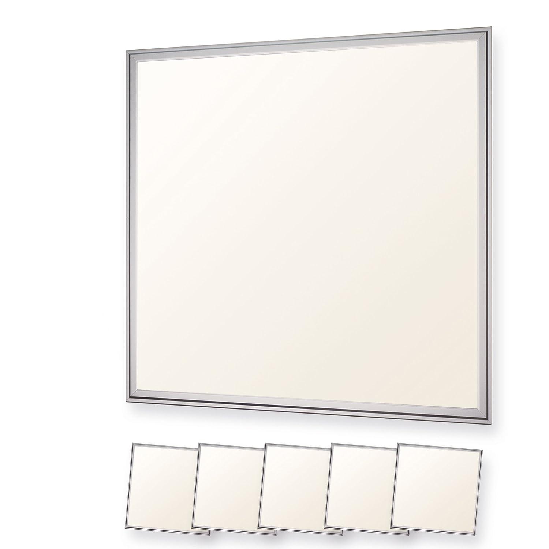 LEDVero 1er Set 60x60cm Ultraslim LED Panel 36W, 3000lm, 4500K Deckenleuchte mit Befestigungsclips und EMV2016 Trafo -Neutralweiß- Energieklasse A+ [Energieklasse A+] Bargain24 100142