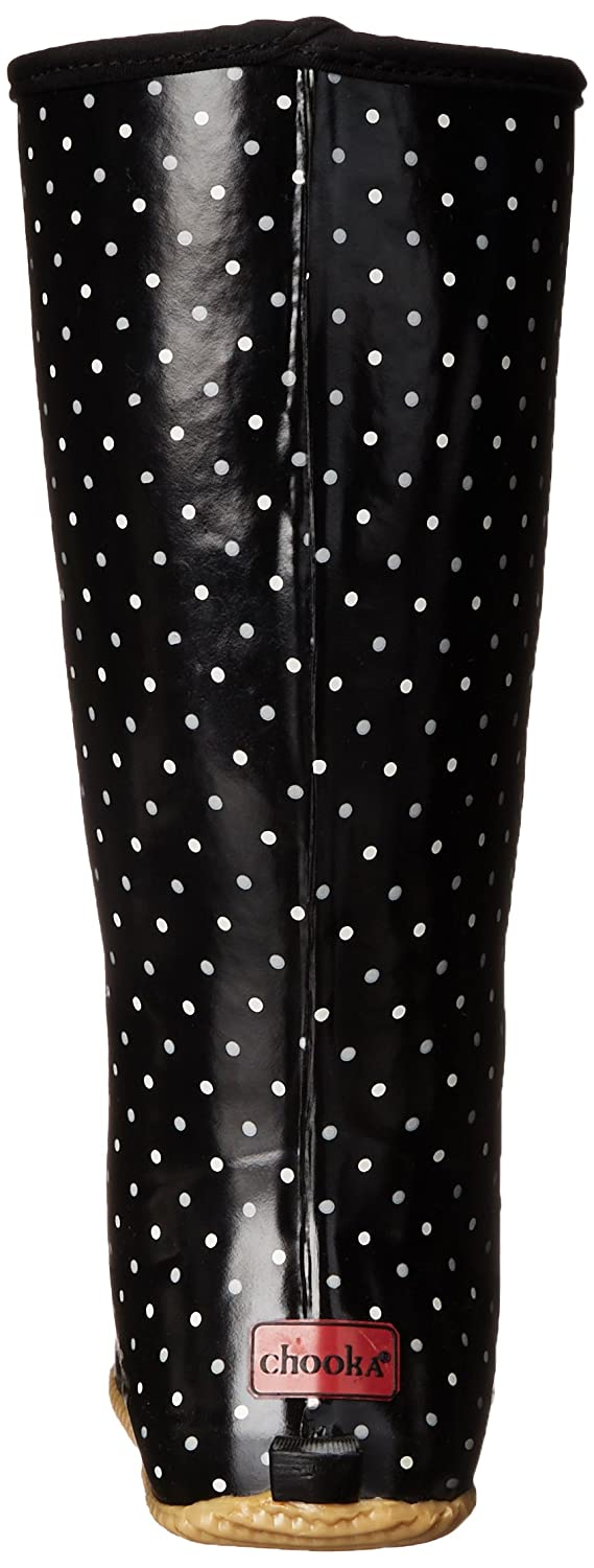 Chooka Women's Packable US|Classic Rain Boot B00SFVK70Y 7 B(M) US|Classic Packable Dot Black fc2398