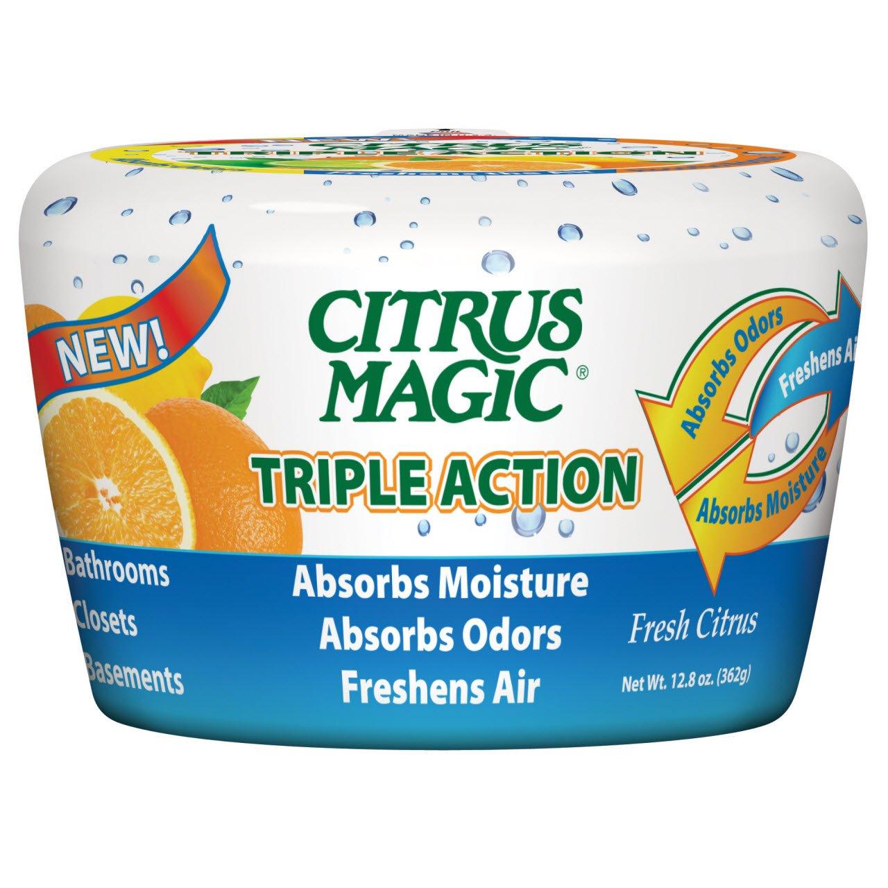 Citrus Magic 618372454 Triple Action Moisture and Odor Absorber Fresh Citrus, 12.8-Ounce