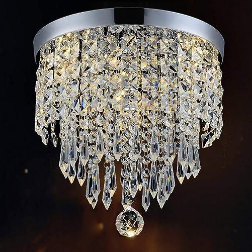 Hile Lighting KU300074 Modern Chandelier Crystal Ball Fixture Pendant Ceiling Lamp H9.84 X W8.66 , 1 Light