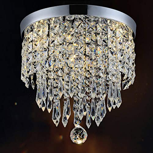 Hile Lighting KU300074 Modern Chandelier Crystal Ball Fixture Pendant Ceiling Lamp H9.84 X W8.66 , 1 Light