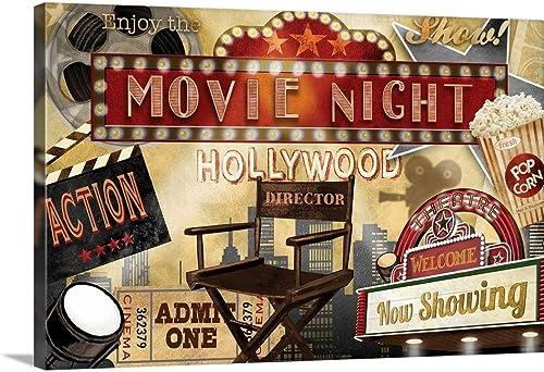 Movie Night Canvas Wall Art Print