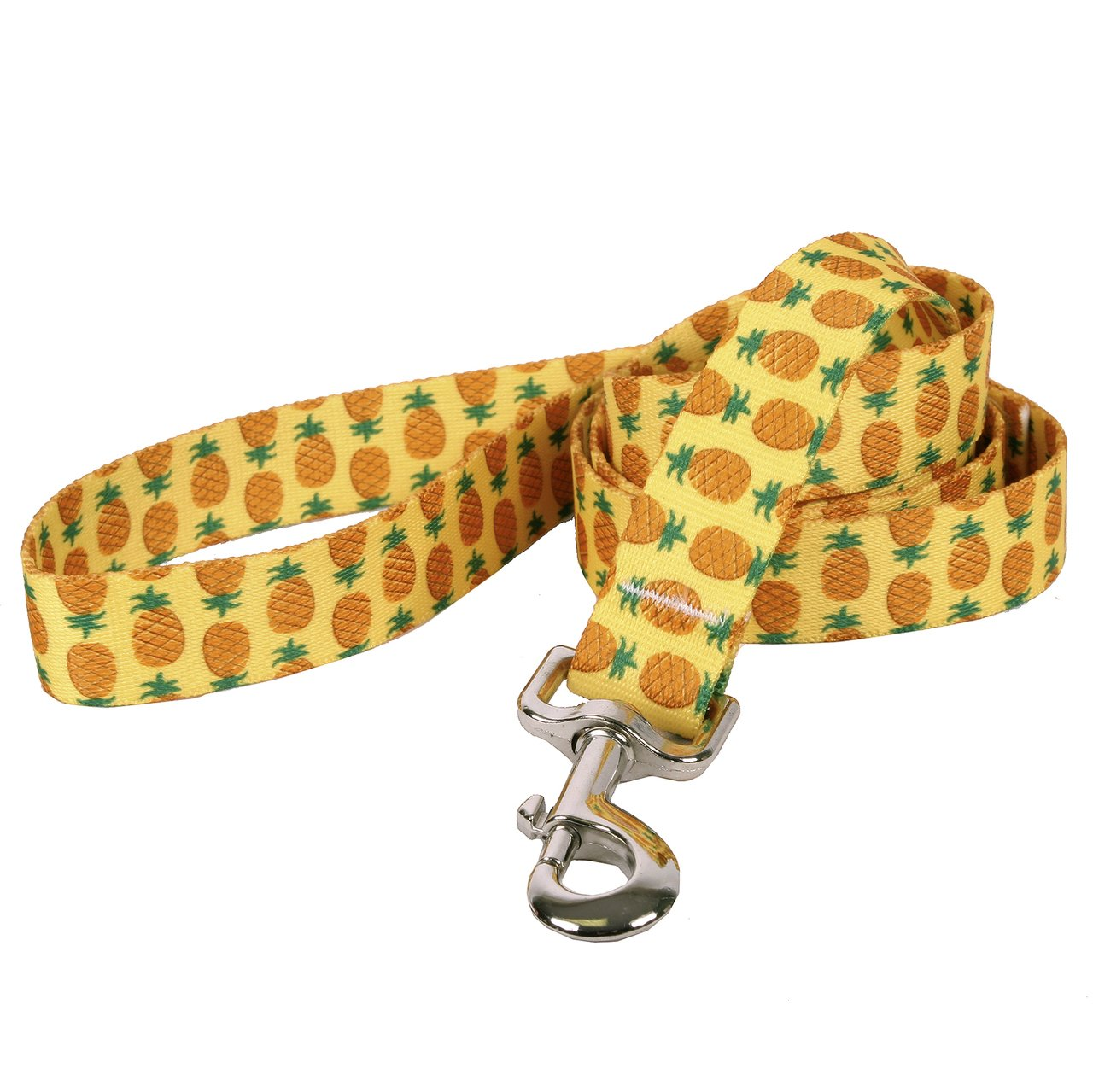 Yellow Dog Design Pineapples Yellow Dog Leash, Large/1'' Wide and 5' (60'') long