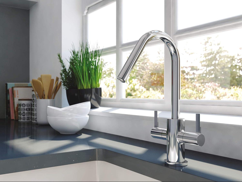 Bristan EC SNK EF C Echo Easyfit Kitchen Sink Mixer Tap Swivel Spout Chrome
