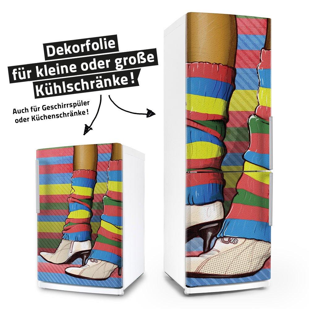 "Posterdeluxe 11020[C] Kühlschrank- / Spülmaschinen-Aufkleber ""Colorful Clubbing"" (65 cm x 80 cm)"