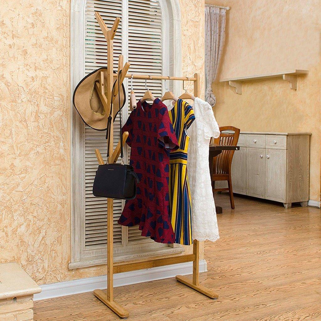 Porte-manteau Bambou Coatrack Creative Bedroom Salon Ensembles de sol Double Branches Hatrack ( Couleur : Marron